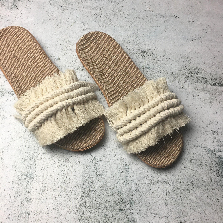Macrame Sandals Slippers Shoes In 2020 Diy Sandals Diy