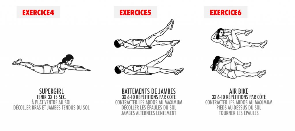 exercices abdominaux femme ventre plat