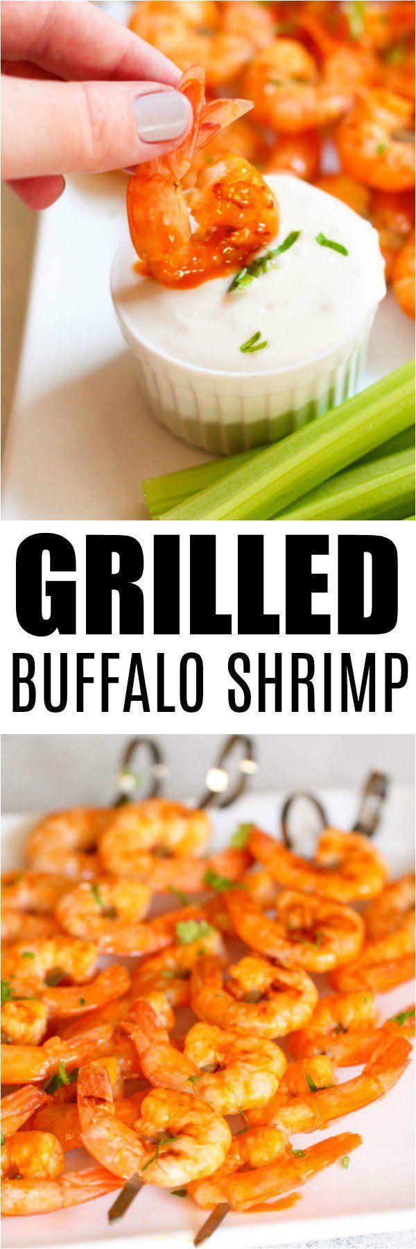 Grilled Buffalo Shrimp #buffaloshrimp