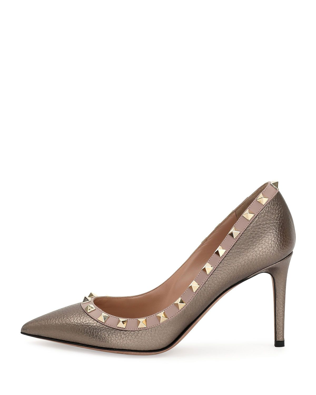 a662a48f7a Rockstud Leather 85mm Pumps Sasso/Poudre | Products | Valentino ...