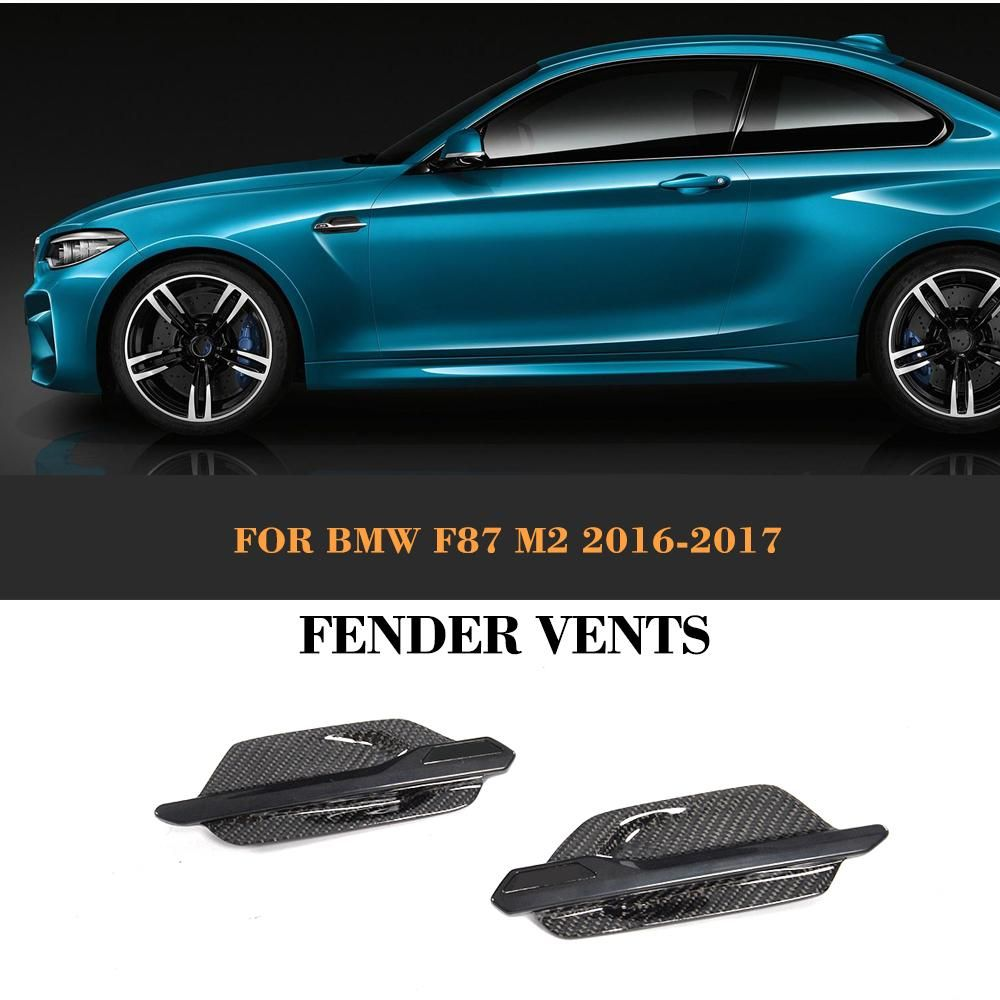 m2 carbon fiber decorative fender vents cover for bmw f87. Black Bedroom Furniture Sets. Home Design Ideas
