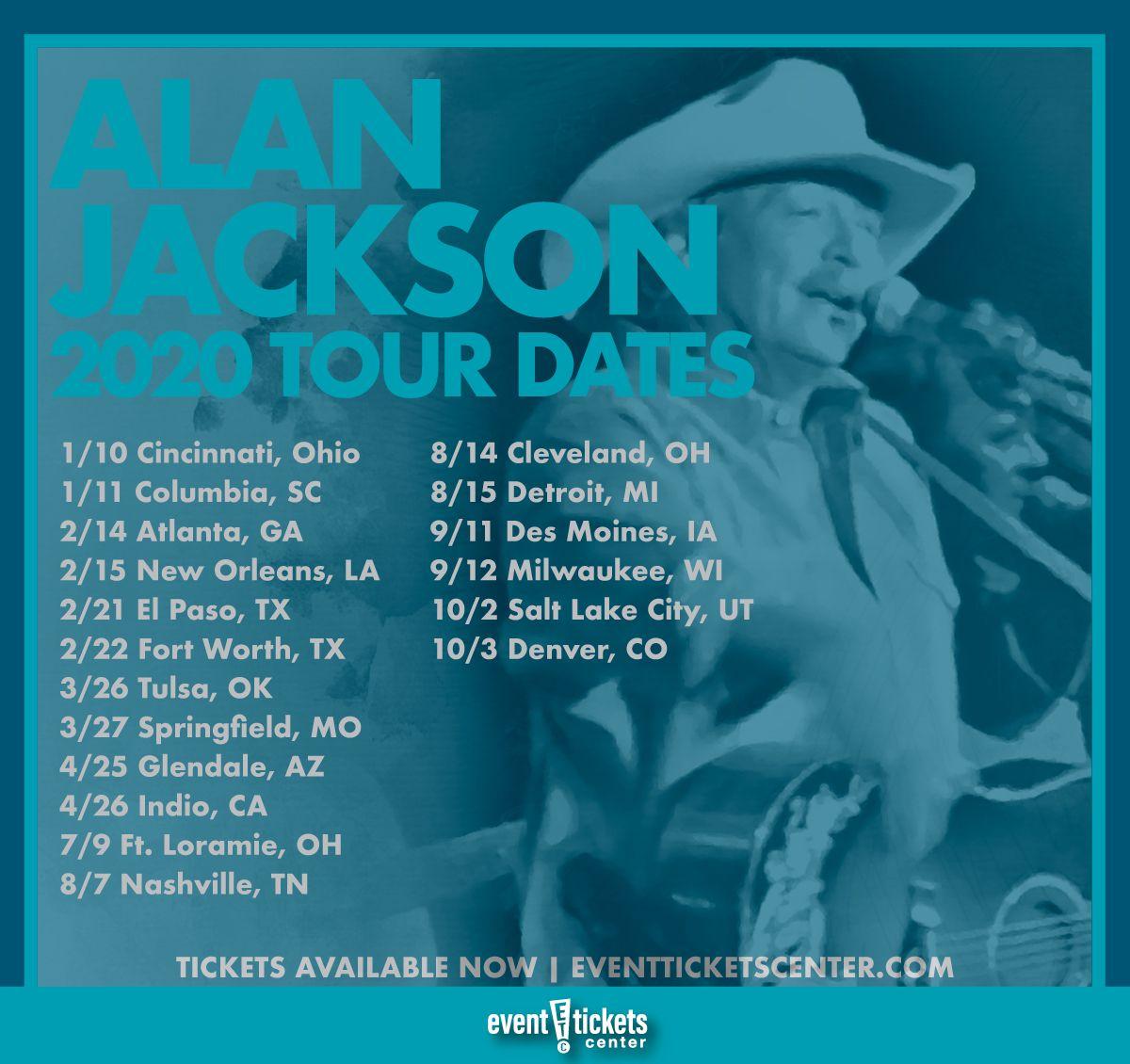 alan jackson 2020 tour dates