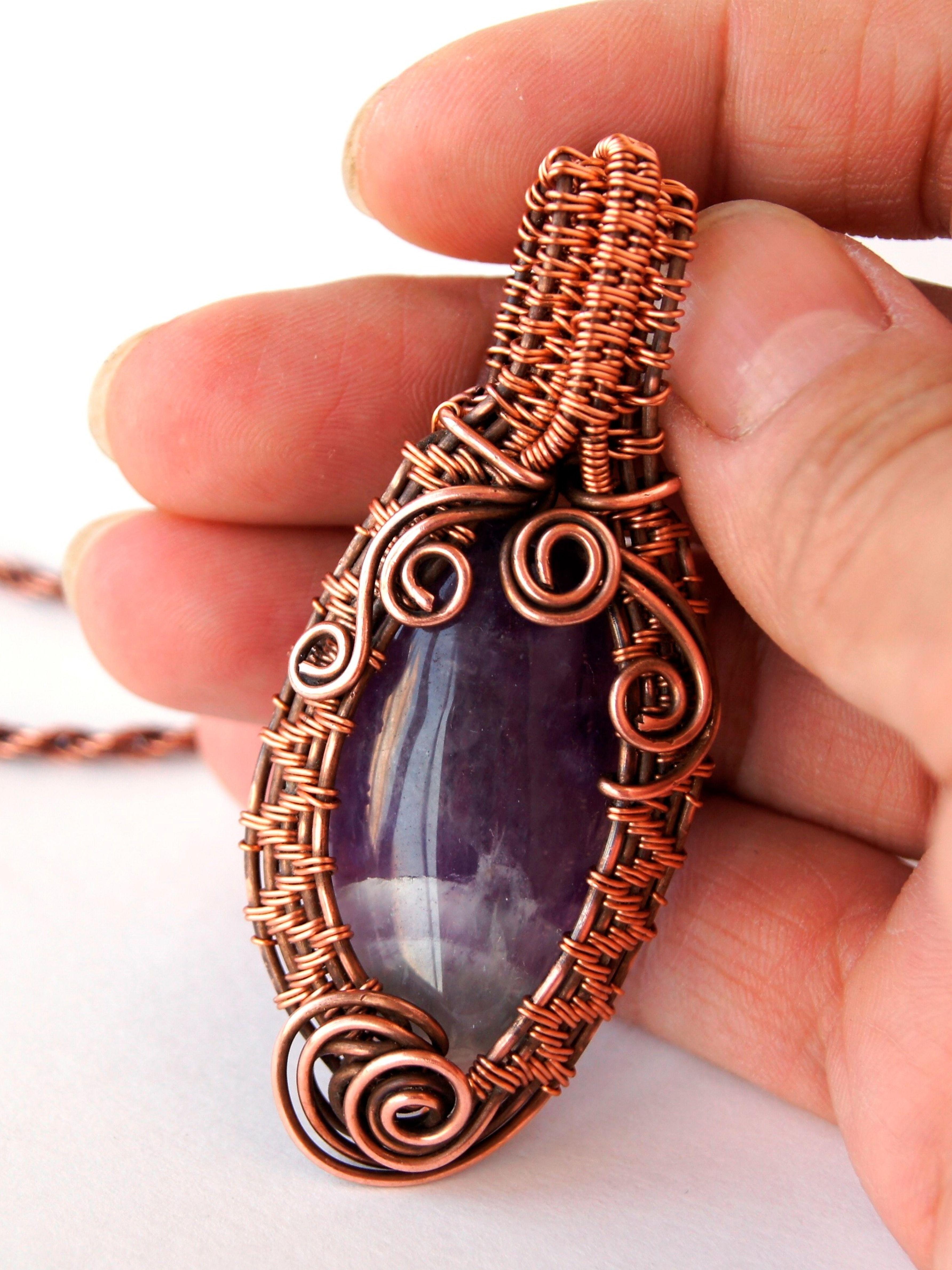 Dainty Amethyst pendant. 7th anniversary gift. Purple