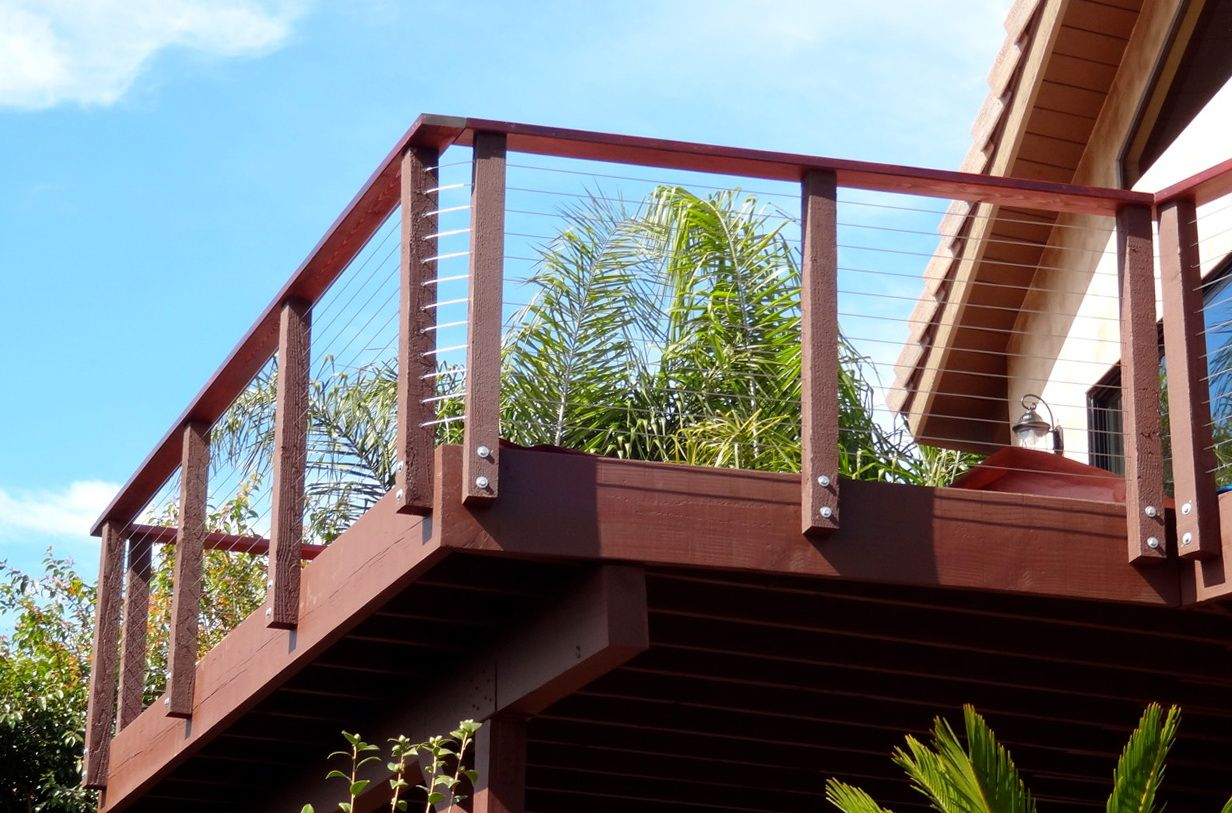 Best Deck Railing With Wire Cable Home Design Ideas Wood 400 x 300