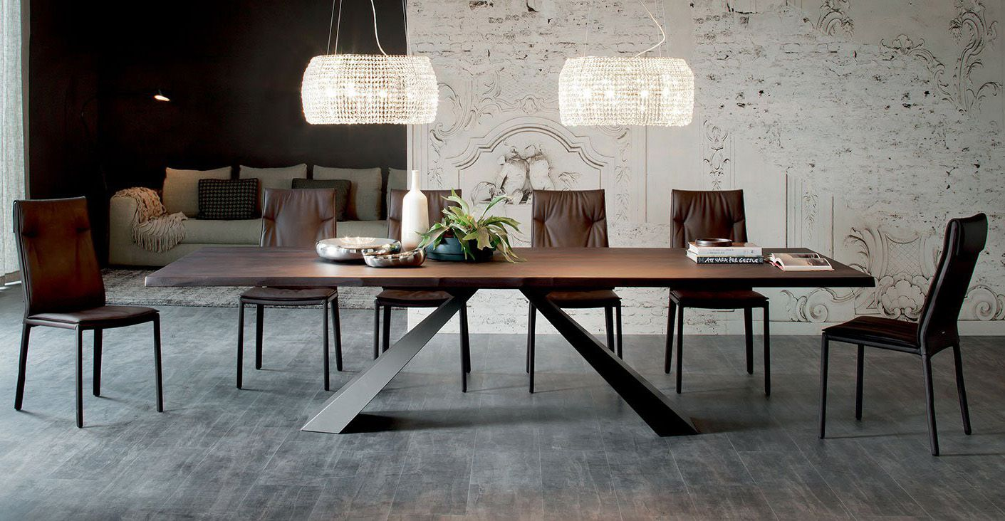 Cattelan Italia Eliot Wood Dining Table, Contemporary Dining Room Tables