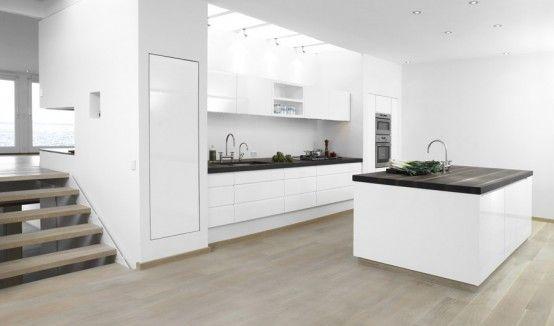 Cocinas blancas - Fotos - Diseño escandinavo Deco ideas - Cocinas Integrales Blancas