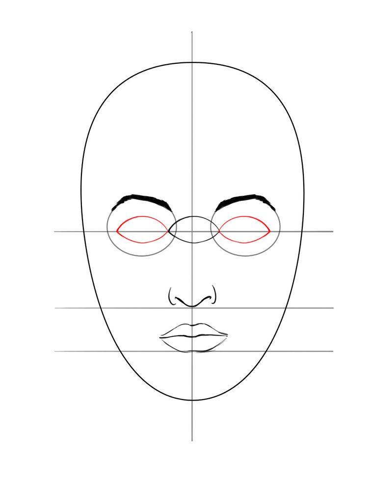 Ein Gesicht zeichnen | Zeichnen, Zeichnen lernen und Lippen zeichnen