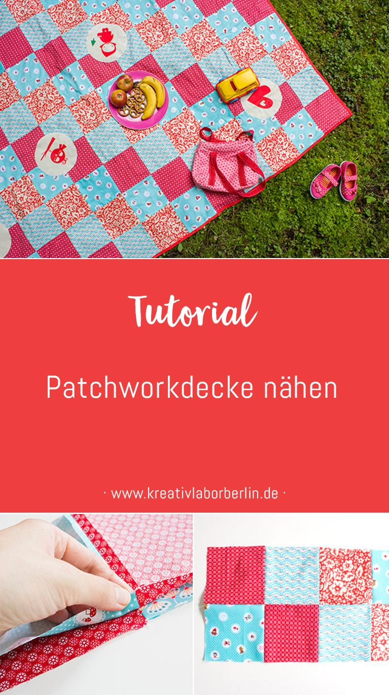 diy anleitung eine einfache patchwork decke n hen n hideen freebooks n hen f r kinder. Black Bedroom Furniture Sets. Home Design Ideas