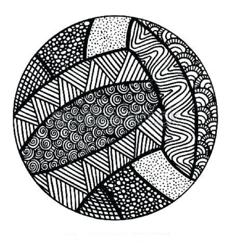Volleyball Mandala Coloring Pages Volleyball Drawing Basketball Drawings How To Draw Hands