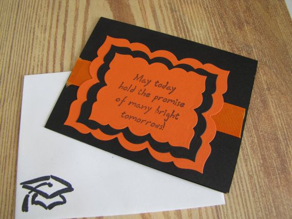 Graduation card handmade greeting cards on sale orange and black graduation card handmade greeting cards on sale orange and black school colors graduation cards handmade graduation cards and handmade greetings m4hsunfo