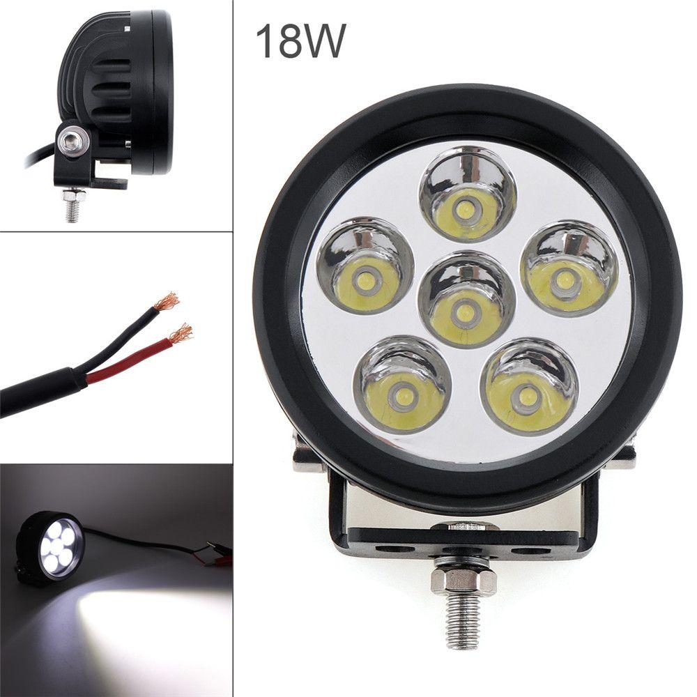 12v 18w Car Led Light Offroad Work Light Bar 1800lm For 4x4 4wd
