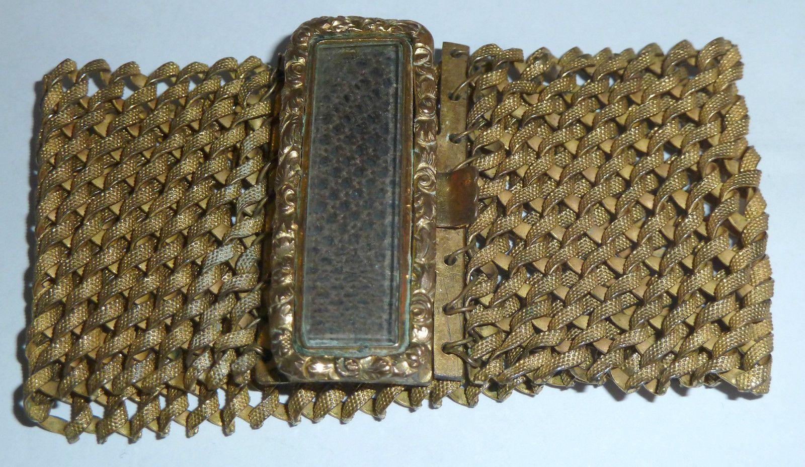 A Georgian Gold Tone Woven Hair Openwork Bracelet | eBay
