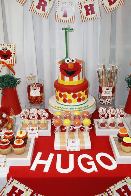 Incredible Elmo Dessert Table See More Party Ideas At CatchMyParty Birthdayparty