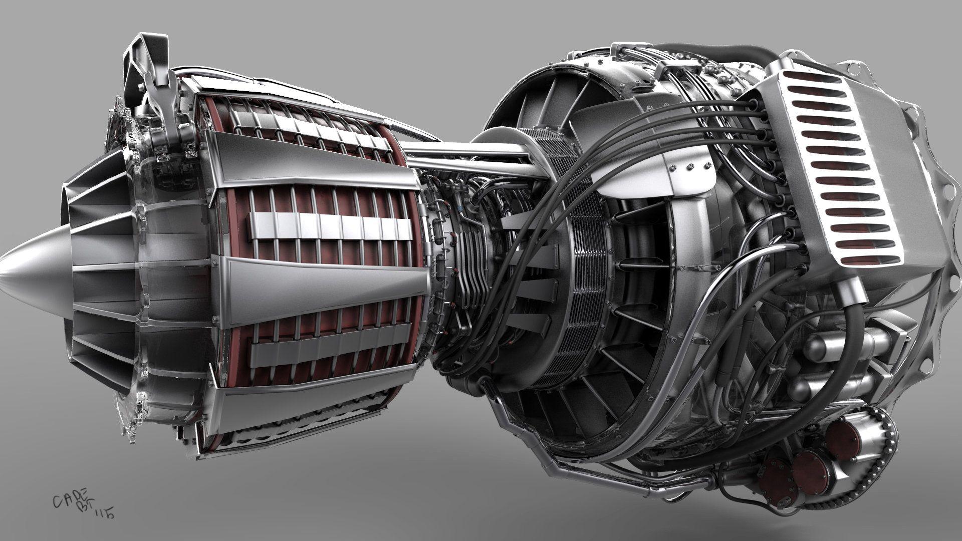 jet engine wallpaper hd