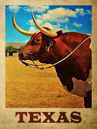 Vintage Decoration /& Design TRAVEL Poster.TEXAS Cowboy Boots.Art Decor.448