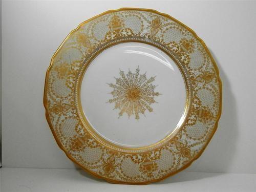LIMOGES WARRIN Dinner Plates Gold Rimmed FRANCE Porcelain China & Set of 11 LIMOGES WARRIN Dinner Plates Gold Rimmed FRANCE ...
