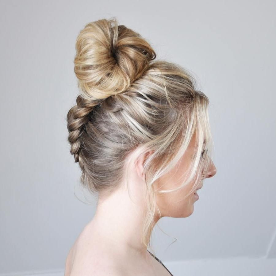 Slick back hairstyle women bun updo hair long bobs and bouffant hair