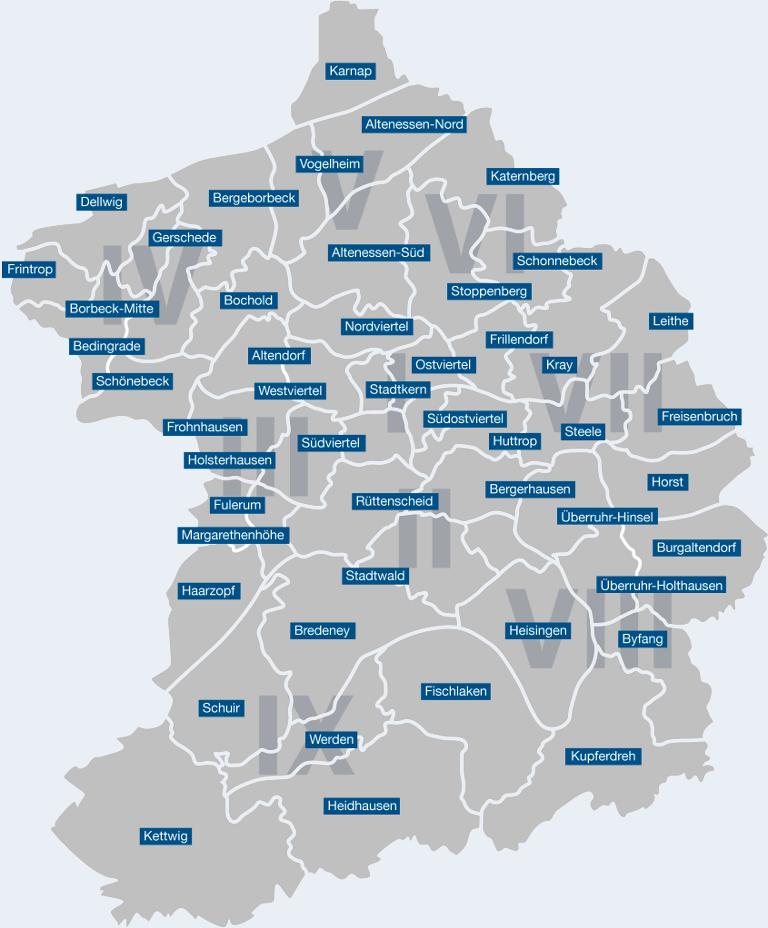 Stadt Essen Karte.Karte Der Stadt Essen Germany Animals Stadt Essen