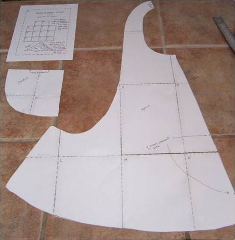 One Yard Apron-- with free downloadable PDF pattern designed by the ...