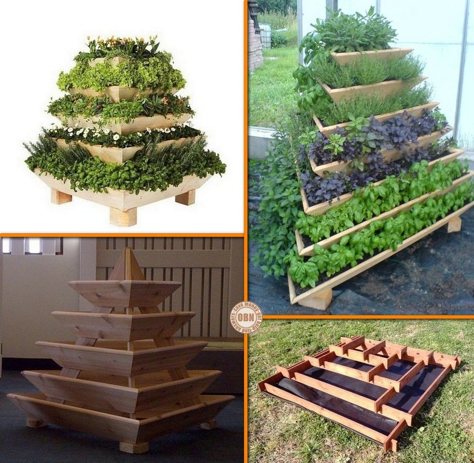 Gentil Grow Herbs, Veggies And Flowers With This DIY Slot Together Pyramid Planter!  Learn How