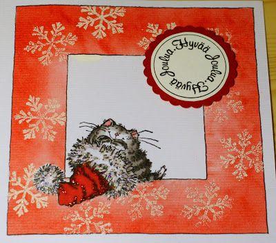 A christmas card for Lauran korttihaaste #8