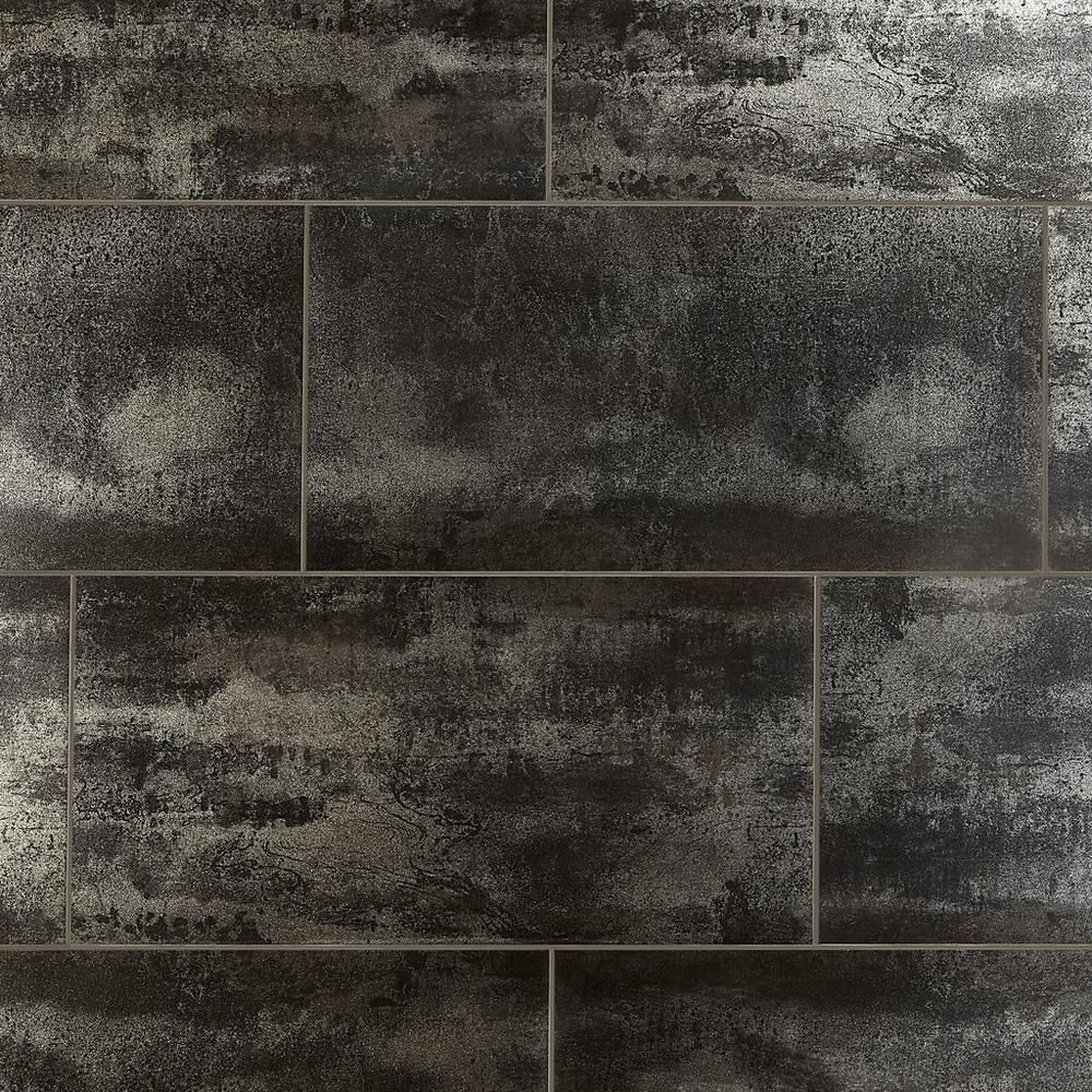 Metallic Black Ii Porcelain Tile Porcelain Tile Fireplace Tile Polished Porcelain Tiles