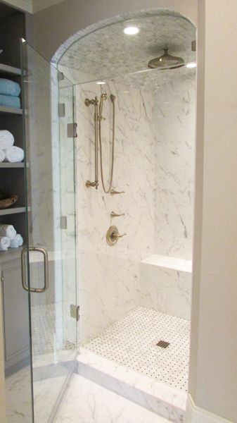 Tiled Shower W Curved Ceiling Tile And Installation By Exact