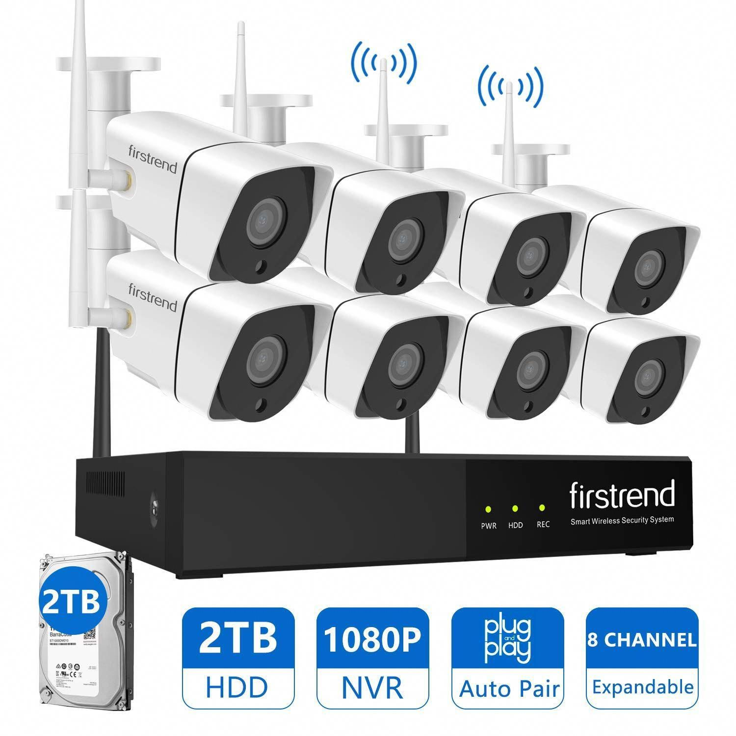 Best Outdoor Wireless Security Camera System With Dvr In 2020 Wireless Security Camera System Video Security System Wireless Home Security Systems