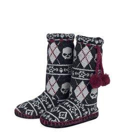 Skull Fair Isle Slippers (97646-15VW)