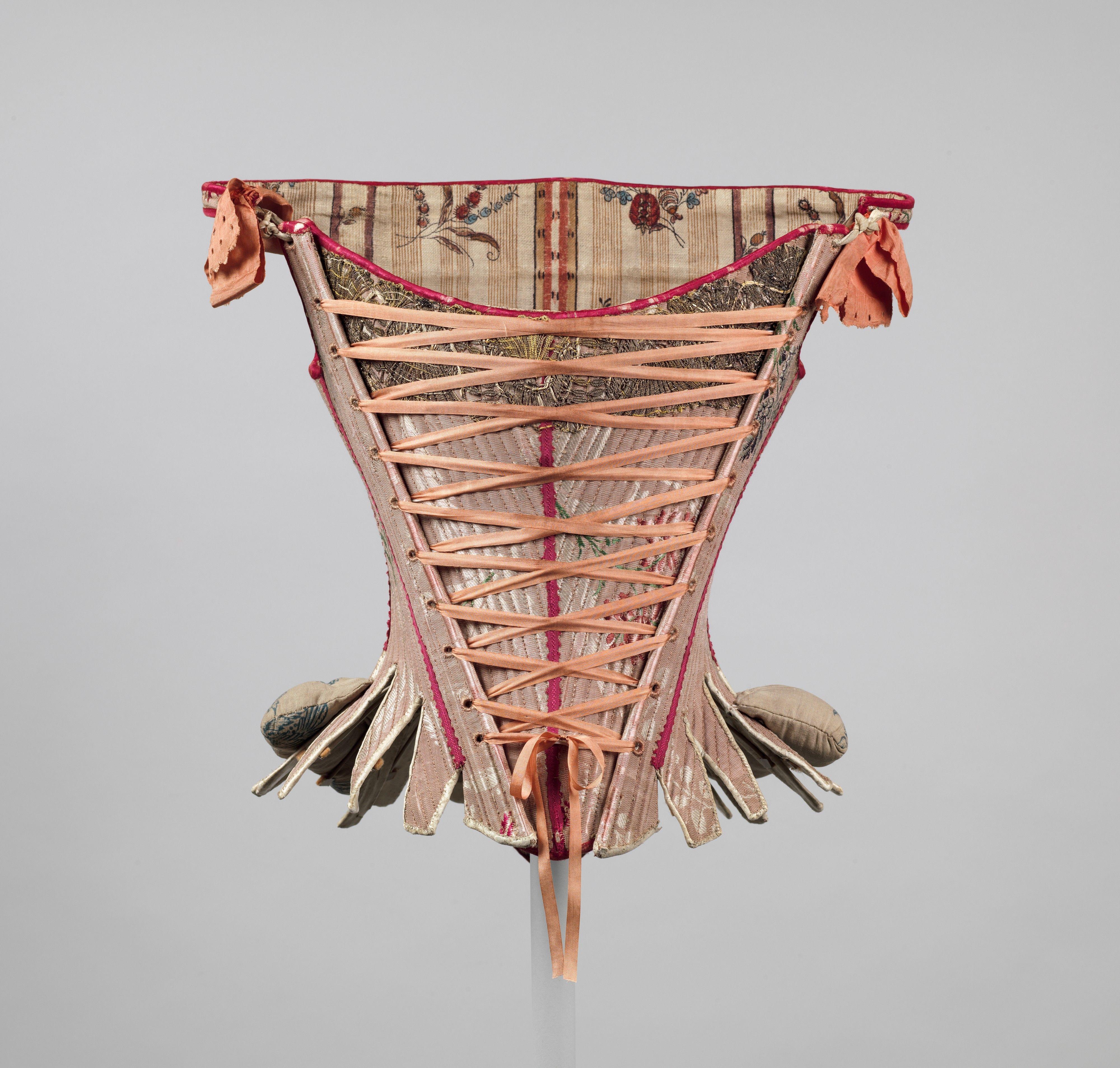 European Corset of Cotton Silk Wood & Baleen (c. 1757-75) [4000x3815] #styled247