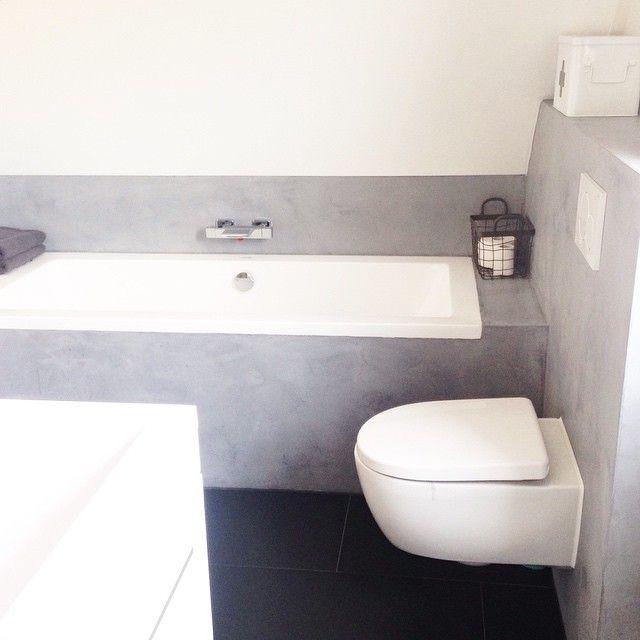 GM! Opstaan & weer werken! Fijne dag!! #badkamer #beton #betonlook ...