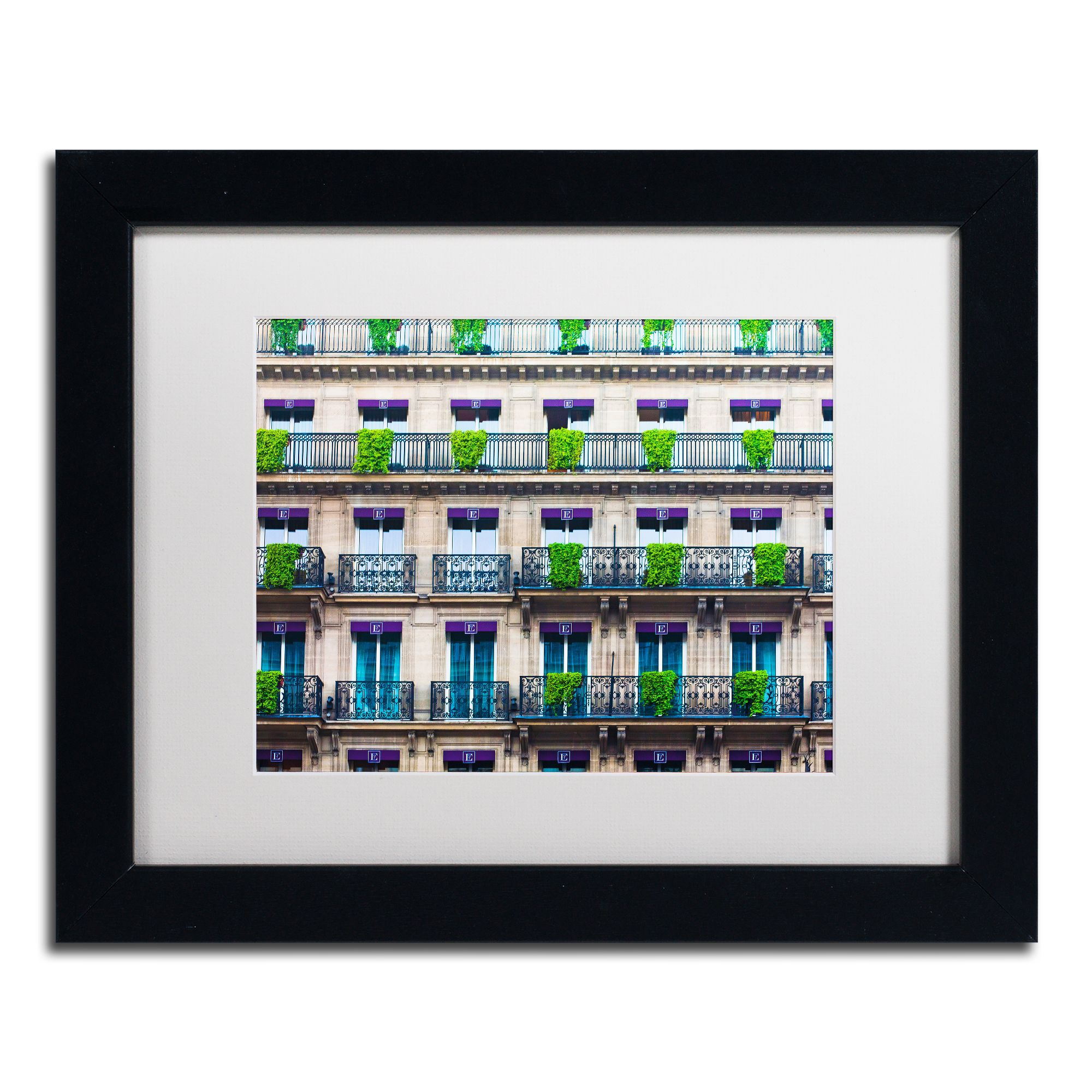 Preston uparisian apartmentsu white matte framed wall art