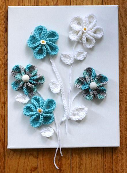 Easy Springtime Crochet Flower Wall Art Crochet Flowers Crochet