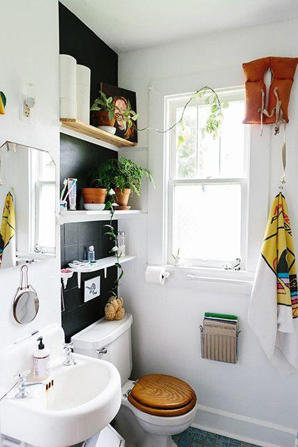 Go High Small Space Hacks Small Spaces Small Bathroom Decor