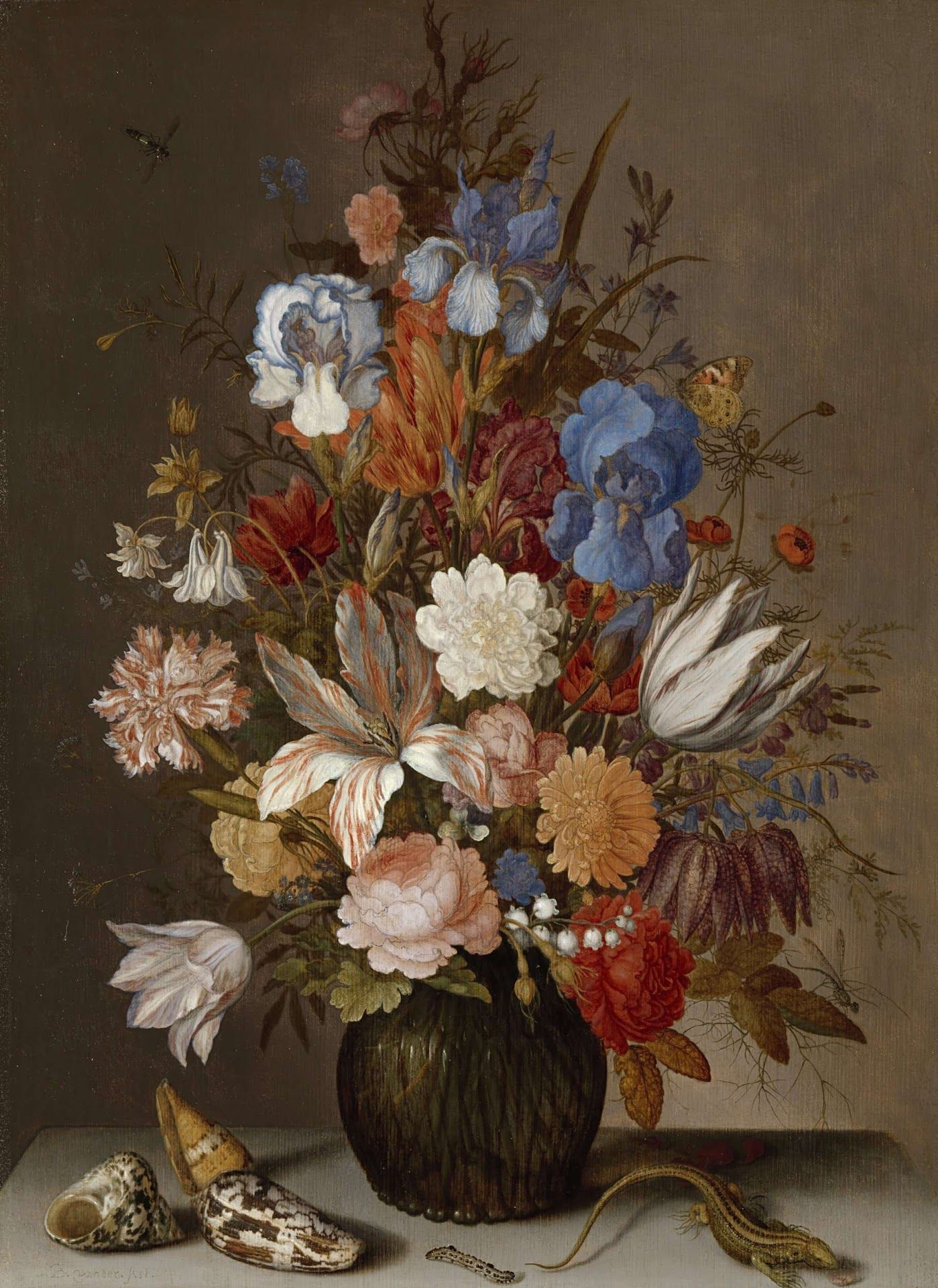 Ast, Balthasar van der -- Stilleven met bloemen., 1625-1630 rijks museum