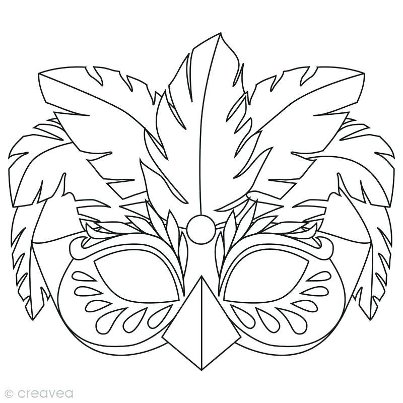 Epingle Par Poumaroux Allan Sur Masque Carnaval Coloriage Masque