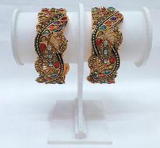 Indian Bollywood Style Bangles kundan diamante kadas, Bracelets Fashion Jewelry
