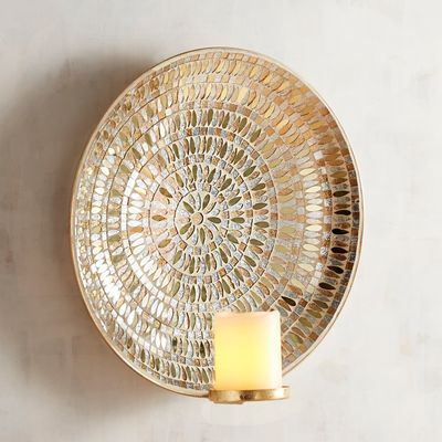 Golden Mosaic Candle Wall Sconce Mosaic Candle Wall Candles