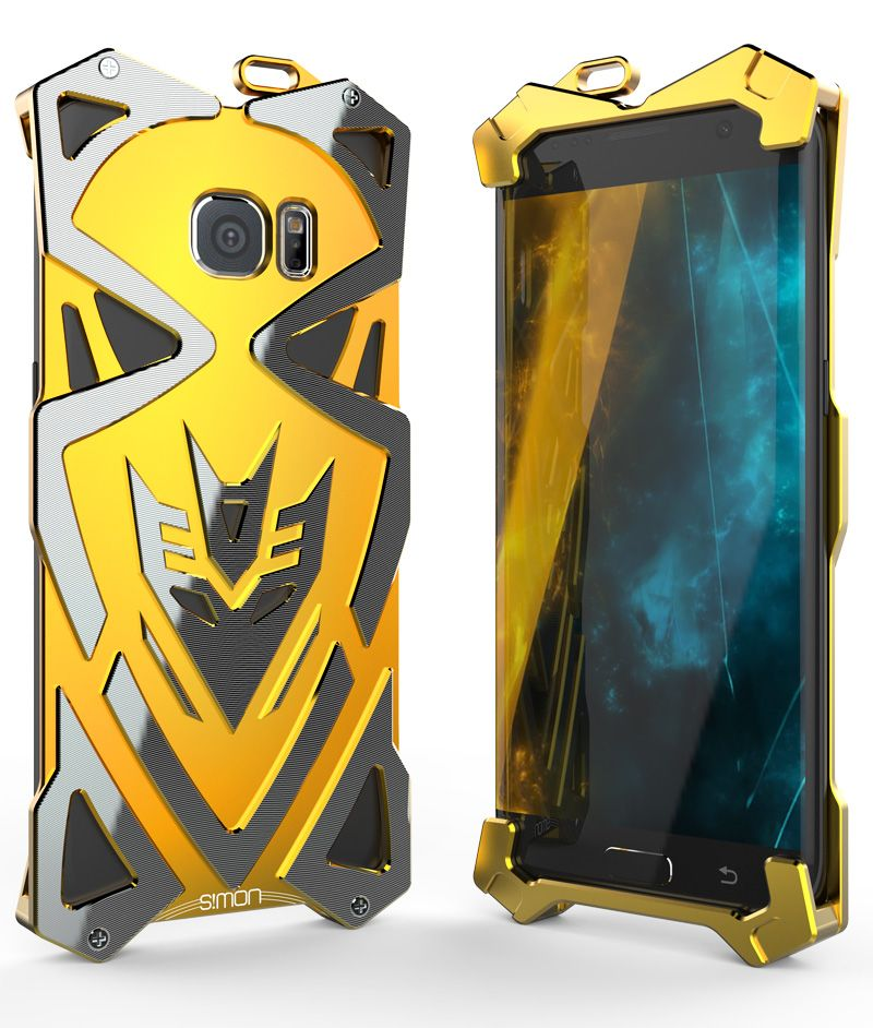 SIMON THOR IRONMAN Case for SAMSUNG Galaxy S7 S7 Edge S6 Edge Metal Armor  Carbon Fiber CNC Anodized Aluminum Housing Phone Case 99092ca43ed