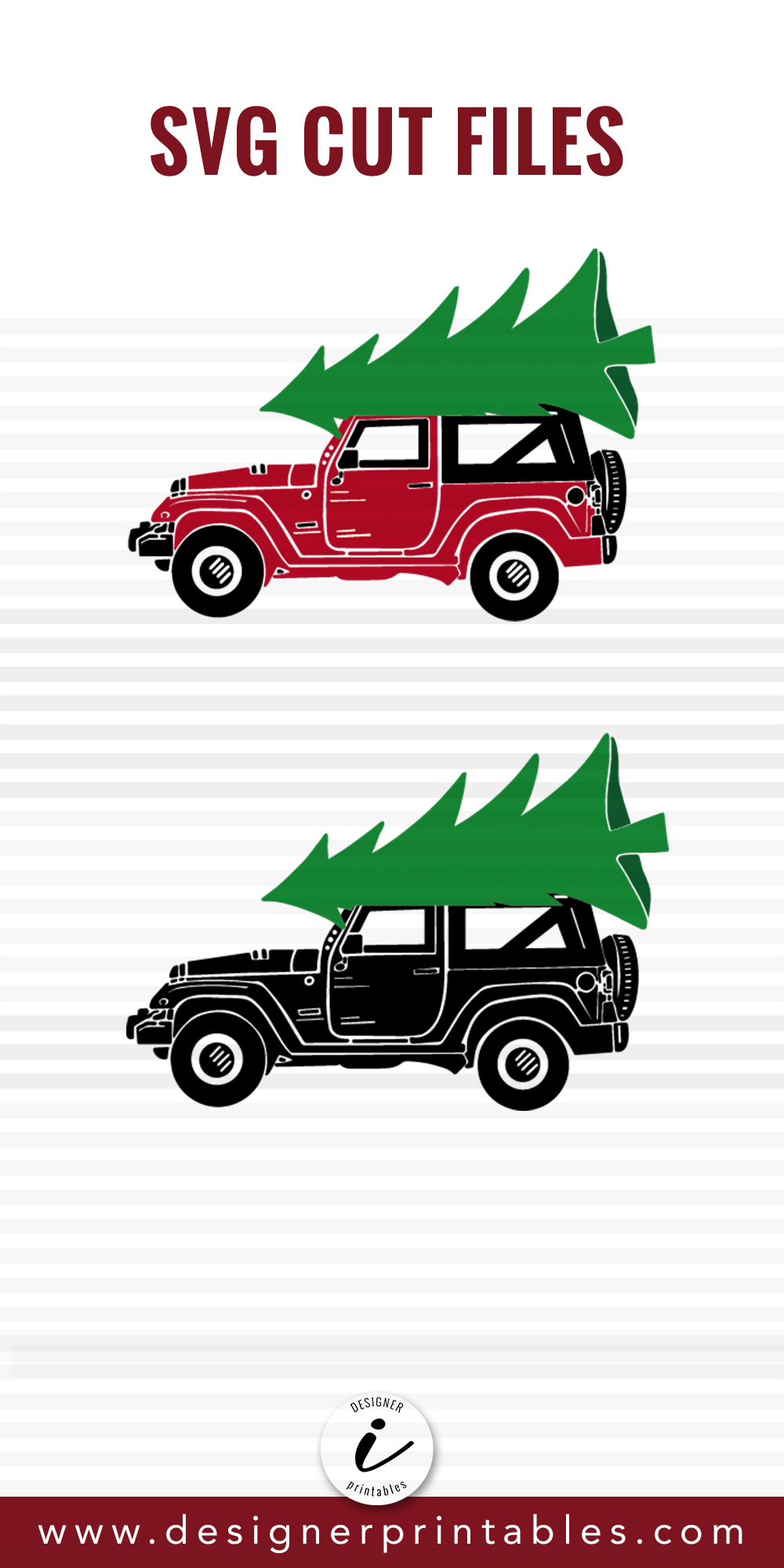 Jeep with Christmas Tree Christmas svg files, Christmas