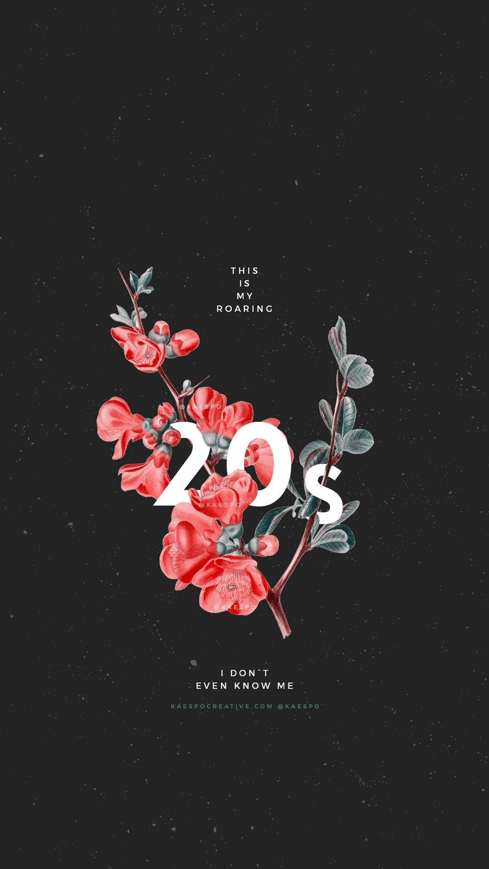 Wallpapers No. 427 - Pray For The Wicked Floral Photo Backgrounds — KAESPO Design