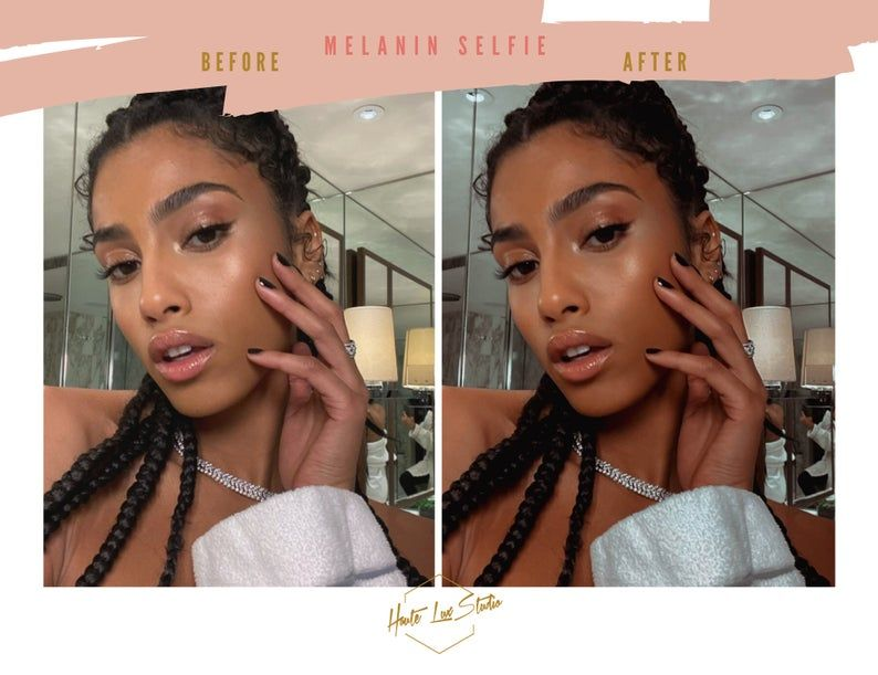 2 Black Girl Magic Selfie Presets Best Melanin Glow Mobile Etsy Brown Skin Tanned Skin Color Black Girl Magic