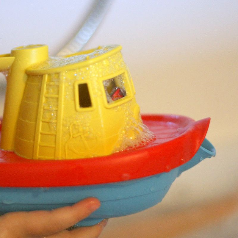 Close up of green toys tug boat in yellow | Toys | Pinterest ...