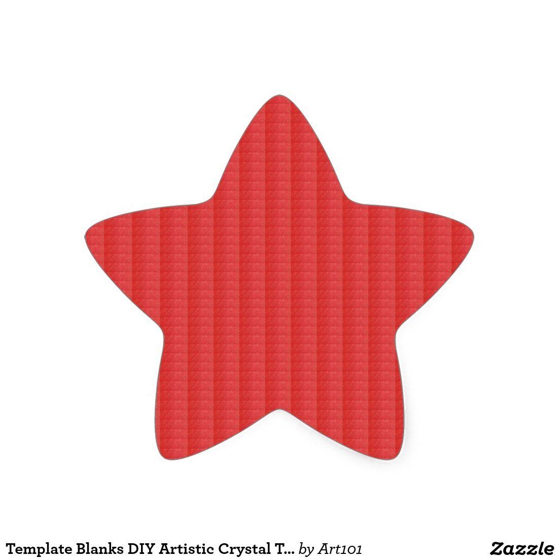 Template Blanks DIY Artistic Crystal Texture + TXT Star Sticker ...