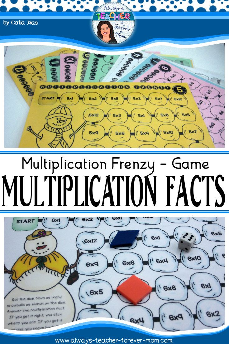 Multiplication Frenzy  Multiplication Facts Game  Multiplication