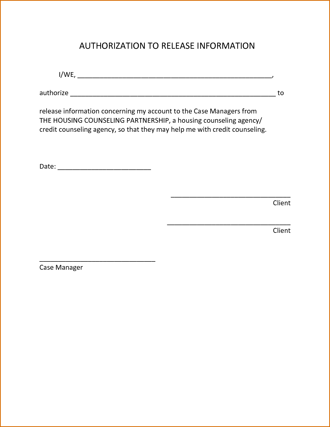 letter of authorization to release information