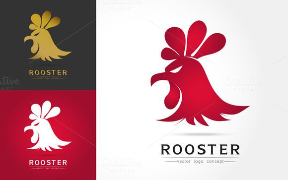 elegant logo of Rooster and cock  @creativework247