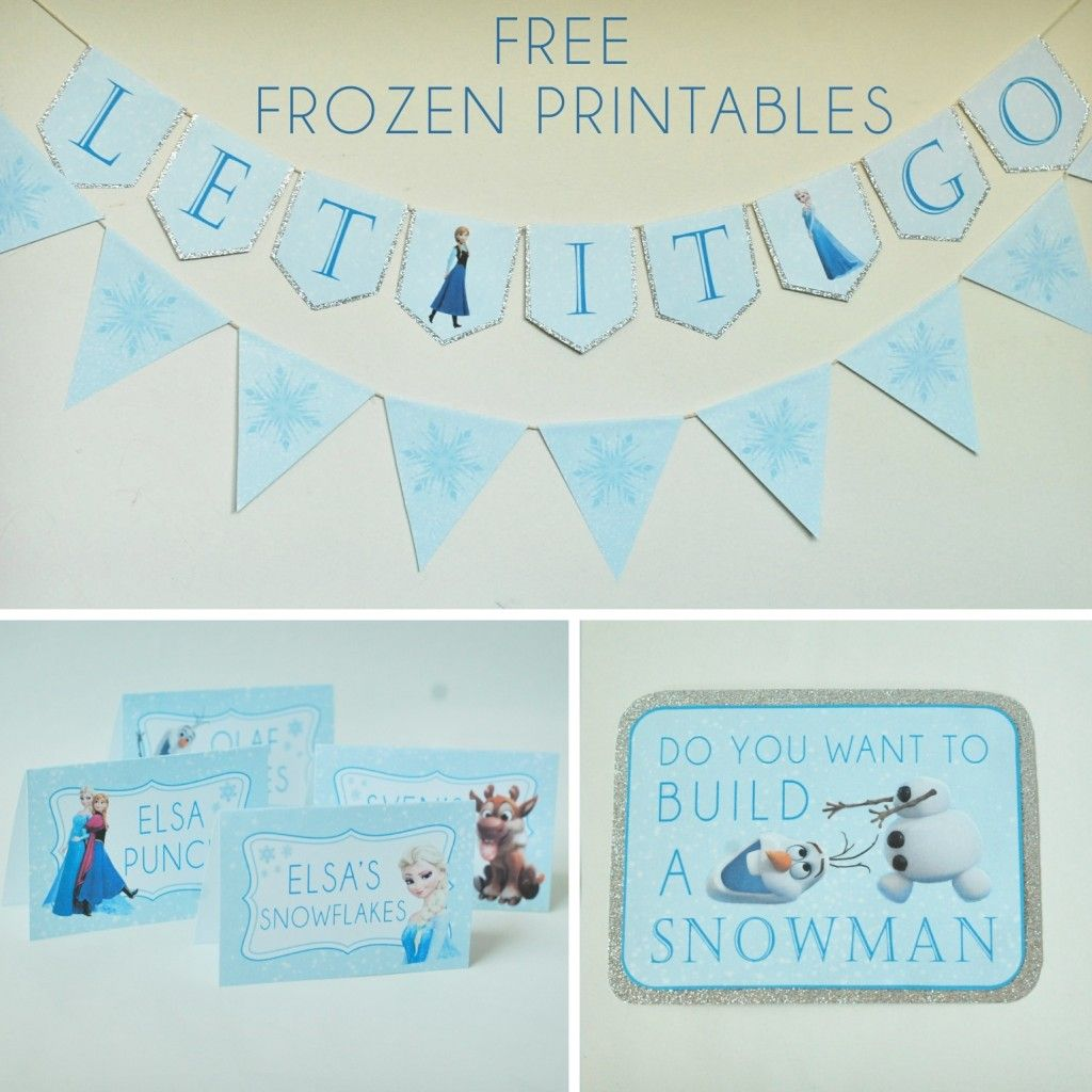 Free Frozen Party Printables Set Includes Let It Go Banner Happy Birthday Banner Tha With Images Frozen Party Printables Frozen Themed Birthday Party Frozen Theme Party