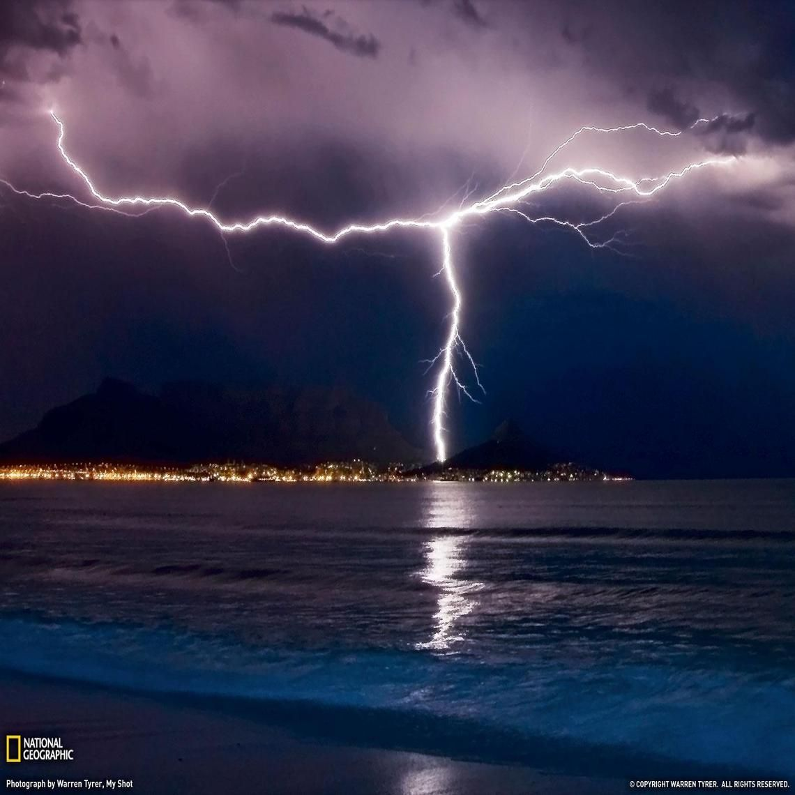 Lightning In Cape Town South Africa