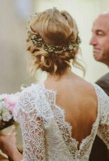 Peinado novia flores naturales